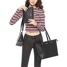 4pcs/set Shoulder Handbags Clutch Women Crossbody Bags Solid Color Design Card Holder Totes For Ladies Party Purse 2019 New