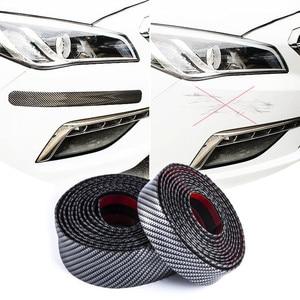 Image 5 - Hiyork molduras de borracha de fibra carbono tira suave preto guarnição pára choques protetor do peitoril da porta diy borda guarda adesivos carro estilo 1 m
