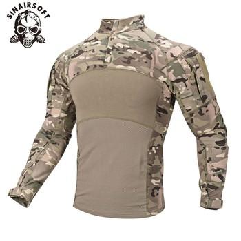SINAIRSOFT męska US mundur wojskowy polowanie taktyczne T Shirt z długim rękawem oddychająca bawełna szturmowy Camo boisko sportowe tanie i dobre opinie Pasuje prawda na wymiar weź swój normalny rozmiar LY0107 95 Cotton + 5 Spandex airsoft paintball shooting army training fishing hiking