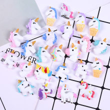 10pcs Resin Unicorn Slime Supplies DIY Crystal Slime Filler Clear Clay Supply Slime Kit Accessories Phone Case Decoration(China)