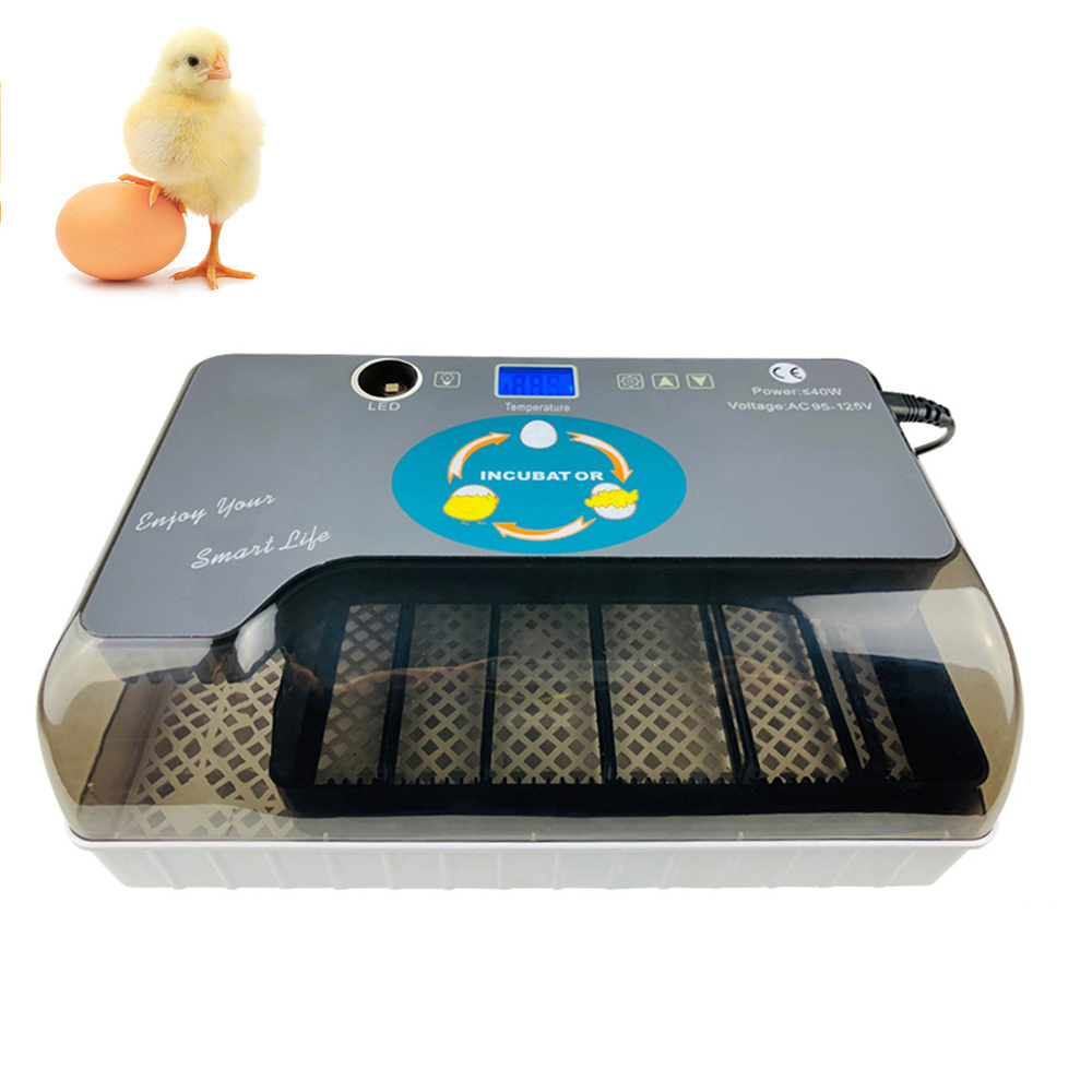 Digital EU Plug Egg Incubator Automatic Eggs Hatcher with Eggtester Automatic Egg Turning 12 Eggs Poultry