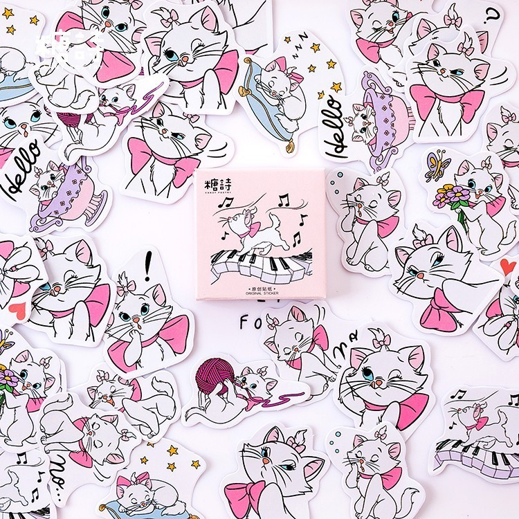 Girl Cat Pattern Boxed Stickers Decoracion Scrapbooking Japanese DIY Office Stationery School Supplies 45PCS /PackGirl Cat Pattern Boxed Stickers Decoracion Scrapbooking Japanese DIY Office Stationery School Supplies 45PCS /Pack