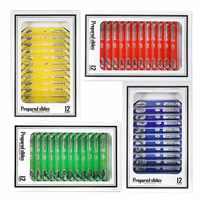 48pcs Kids Plastic Prepared Microscope Slides Of Animals Insects Plants Flowers Sample Specimens For Stereo Microscopes