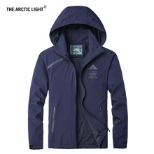 THE ARCTIC LIGHT Oversized 5XL Men Camping Jacket Hunting Hiking Trekking Climb Spring Outdoor Waterproof Coat Man Male Navy