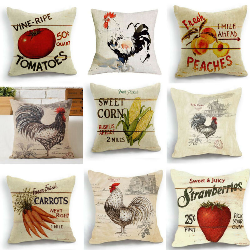 Solar Power Source Original Hglegywretro Design Cushion Case Pillow Case Strawberry Fruit Farm Home Soft Room Gifts Single Sides Printing To Adopt Advanced Technology