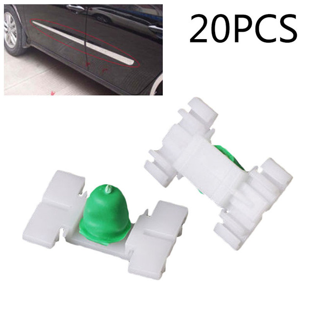 20x Car Exterior Door Fender Moulding Trim Clip For BMW E36 E46 323 325 328 330 Car Exterior Door Fender Trim Clip