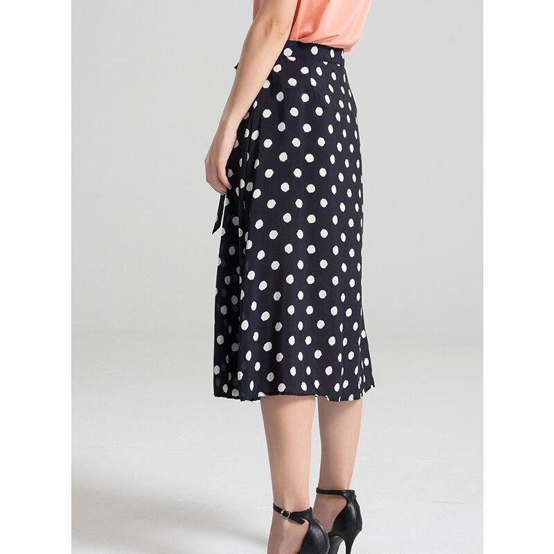 Femmes jupe 100% vrais points de soie imprimé jupe pour femmes a ligne longues jupes 2019 nouveau printemps-in Jupes from Mode Femme et Accessoires    3