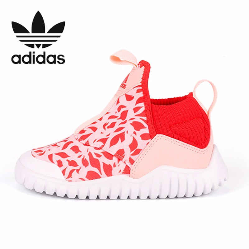 Adidas Kids Original New Pattern Canvas Children Running Shoes Breathable Sports Sneakers #B96351