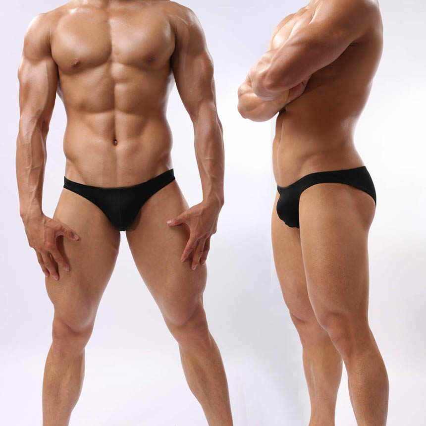 Men's Bikini Brief Underwear Male Bulge Pouch Back Full Coverage Briefs Shorts