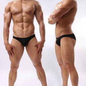 Men's Bikini Brief Underwear Male Bulge Pouch Back Full Coverage Briefs Shorts(China)