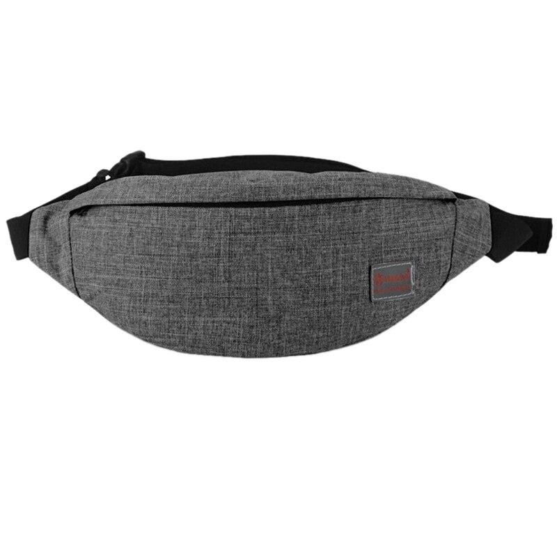 Tinyat Men Male Casual Functional Fanny Bag Waist Bag Money Phone Belt Bag T201 Canvas Hip Bag Shoulder Belt Pack
