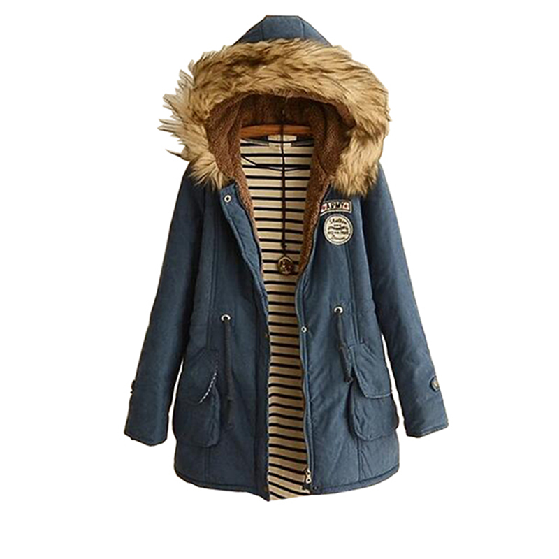 Winter 2017 Plus Size Cotton Women Coat Veste Femme Mujer Outerwear Slim Casual Clothes Ladies   Basic     Jackets   Casacos Feminino 70
