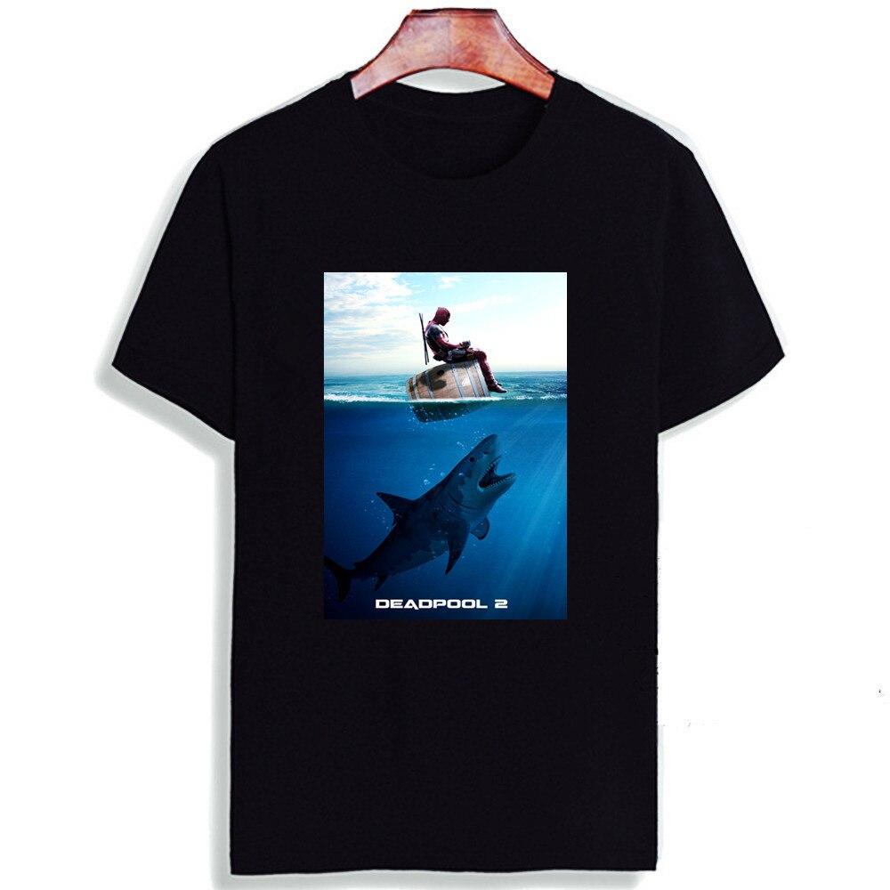 Fashion Short Sleeve T Shirt  Deadpool 2 Superhero Movie Printed 100% Cotton Top Tees  Casual O Neck T-Shirt Unisex TShirt