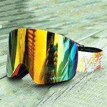 VECTOR Brand Ski Goggles UV400 Anti-fog Big Snow Masks Men Women Double-Layer Snowboard Skiing Glasses Outdoor Sport Eyewear
