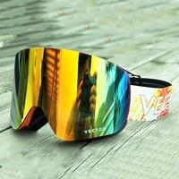 OTG Ski Goggles Snow Glasses Interchangeabe Men Women Anti fog Double layered Coating Snowboard Skiing Sunglasses Outdoor Winter