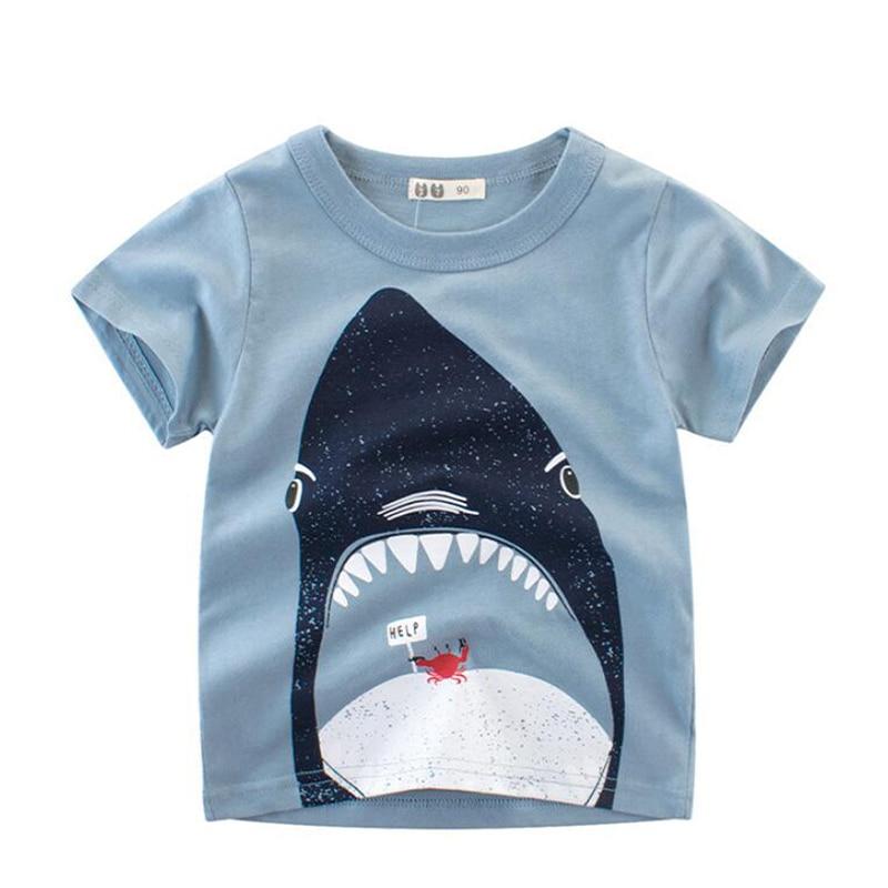 2-10 T Kinder Kleidung Sommer Jungen T-shirt Baby Dinosaurier Kinder Kurzen ärmeln Tops Baby Kleidung 2019 Kleinkind T