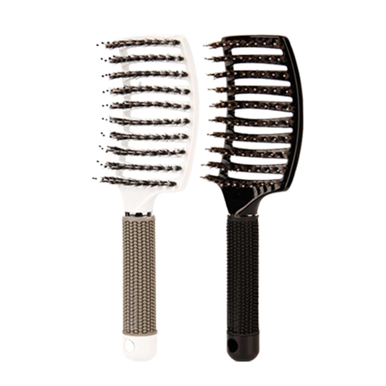 Щетка для помазок-изогнутая и вентилируемая щетка для распутывания волос для женщин длинная, толстая, тонкая кудрявая щетка для волос подарочный набор