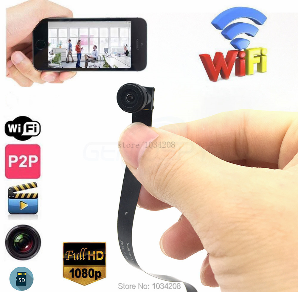1.8MM Wide Angle 140Degree 1080P WIFI Camera DIY Module Wireless IP Cam Mini Covert Nanny Security Cameras Phone Remote View-in Surveillance Cameras from Security & Protection