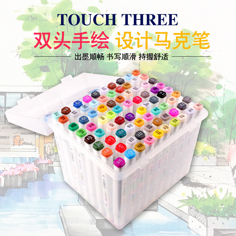 Touch 3 168 Color Quality Goods Alcohol Oiliness Art Marker Pen For Manga PaintingTouch 3 168 Color Quality Goods Alcohol Oiliness Art Marker Pen For Manga Painting