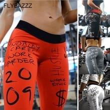 Women New Letter Print Seamless Leggings Gym Fitness Leggings High Waisted Yoga Pants Workout Quick Dry Sportwear Leggings Pants letter print cut out leggings