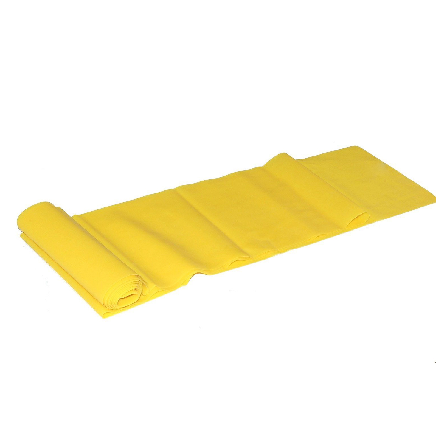 Yellow 1.5m Yoga Pilates Rubber Stretch Resistance Exercise Fitness