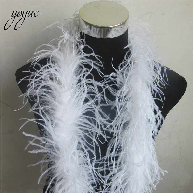 YOYUE 2 m 1 רצועת פלאפי טבעי יען נוצות חנק באיכות פלאפי תלבושות/לקצץ למסיבה/תלבושות/ צעיף/זמין