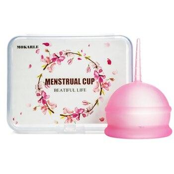 silicone menstrual cup + storage box feminine hygiene lady cup period cup collector menstrual vigin care support 1