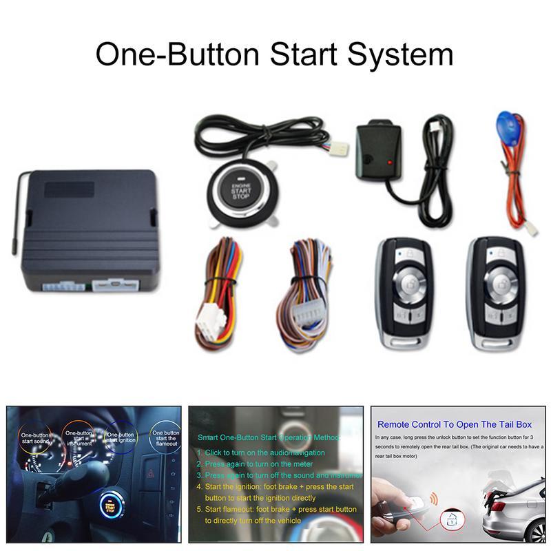 Alarme antivol de voiture universelle système de démarrage à un bouton système de démarrage Intelligent clé de Vibration alarme antivol de voiture démarrage à distance du moteur - 2