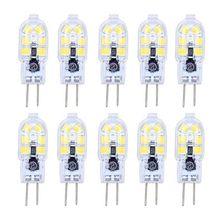 10X G4 LED Bulb 2W Bulb Lamp Cold White 12 SMD 2835LEDs Low Consumption 120LM LED Bulb Light AC220V