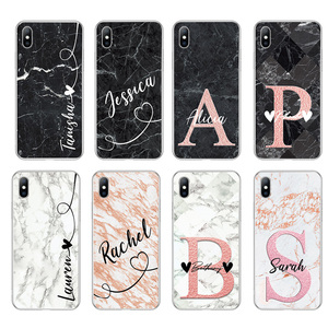 Image 2 - Lovebay DIY Name Custom Phone Case For iPhone 11 Pro 6 6s 7 8 Plus X XR XS Max 5 5s SE Fashion Customized Marble Soft TPU Cover
