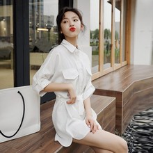 Women Summer Jumpsuits 2019 New Short Sleeve Causual Playsuits Solid White Wide Leg Shorts Jumpsuit Overalls