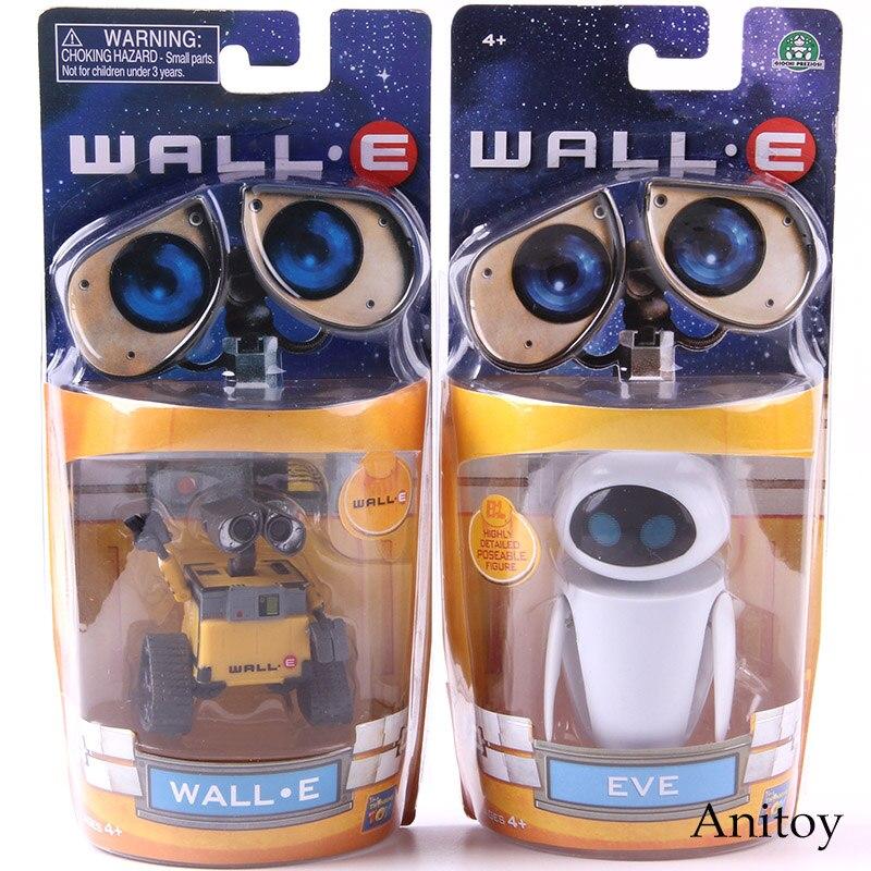 Wall-e robô parede e & eve pvc action figure coleção modelo brinquedos bonecas 6cm