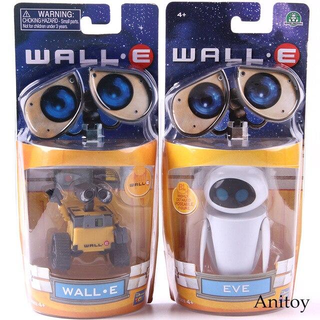 Wall e robô parede e & eve pvc action figure coleção modelo brinquedos bonecas 6cm