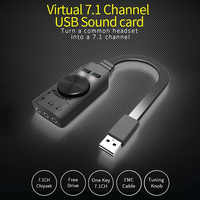 GS3 Virtual 7.1 Channel External Sound Card USB Converter Adapter Black Stereo Audio 3.5mm Headset For PC Desktop Notebook ~