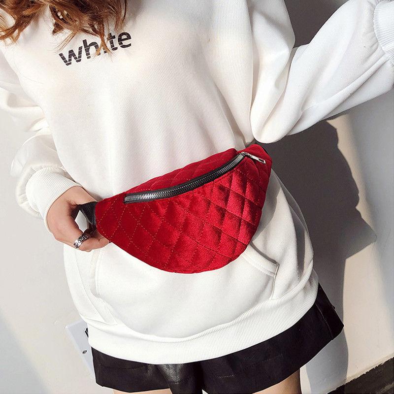 2018 Fanny Pack For Women Men Waist Bag Colorful Unisex Waistbag Belt Bag Zipper Pouch Packs Pleuche Belt Length Factory