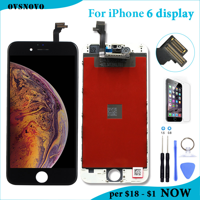4.7 inch AAAA LCD For iPhone 6 Display Touch Screen Digitizer Assembly for iPhone 6 6G A1549 A1586 A1589 LCD Screen Replacement4.7 inch AAAA LCD For iPhone 6 Display Touch Screen Digitizer Assembly for iPhone 6 6G A1549 A1586 A1589 LCD Screen Replacement