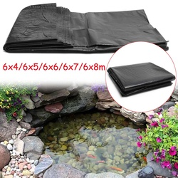 HDPE Fischteich Liner Gummi Wasserdichte Membran Garten Teich Landschaftsbau Pool Dicken Liner Tuch 6x8 m/6 x 7 m/6x6 m/6x5 m/6x4 m