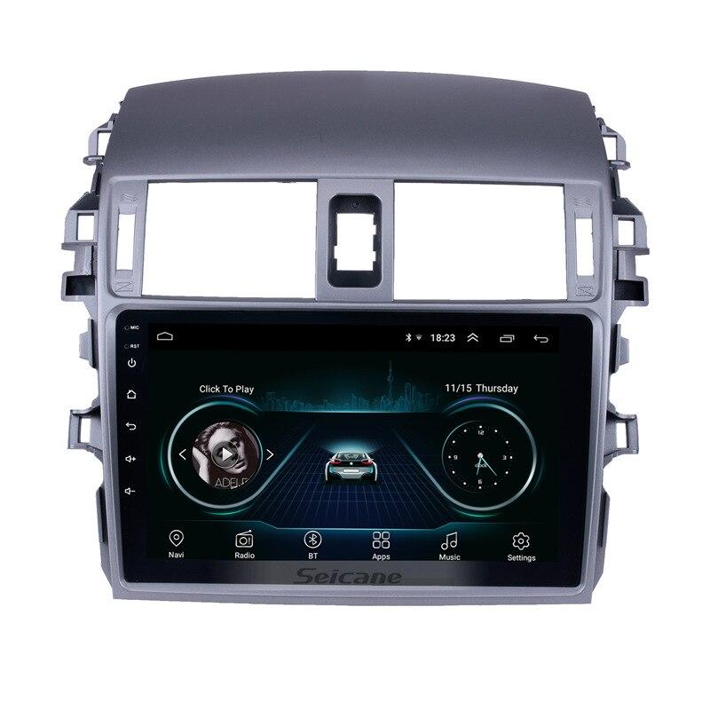 Seicane Android 8.1 9 pouces 2Din autoradio WIFI Bluetooth Quad Core lecteur multimédia Pour 2007 2008 2009 2010 Toyota VIEUX Corolla