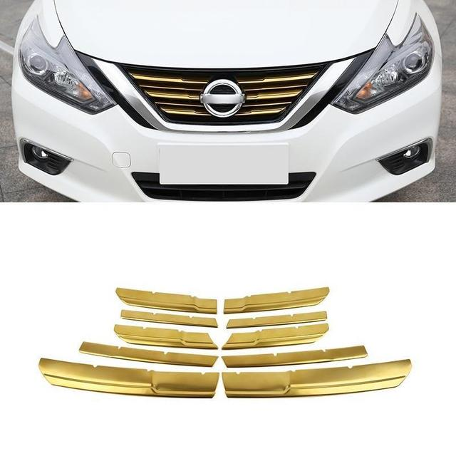 Auto Chromium Front Bumper Grille Exterior Dashing Accessories Car Styling Decoration Bright Sequins 16 FOR Nissan Teana