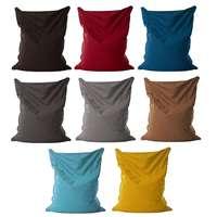 Lazy BeanBag Sofas Cloth Lounger Seat Bean Bag Sofa Cover Chairs Pouf Puff Couch Tatami Living Room Furniture Detachab 140x110c