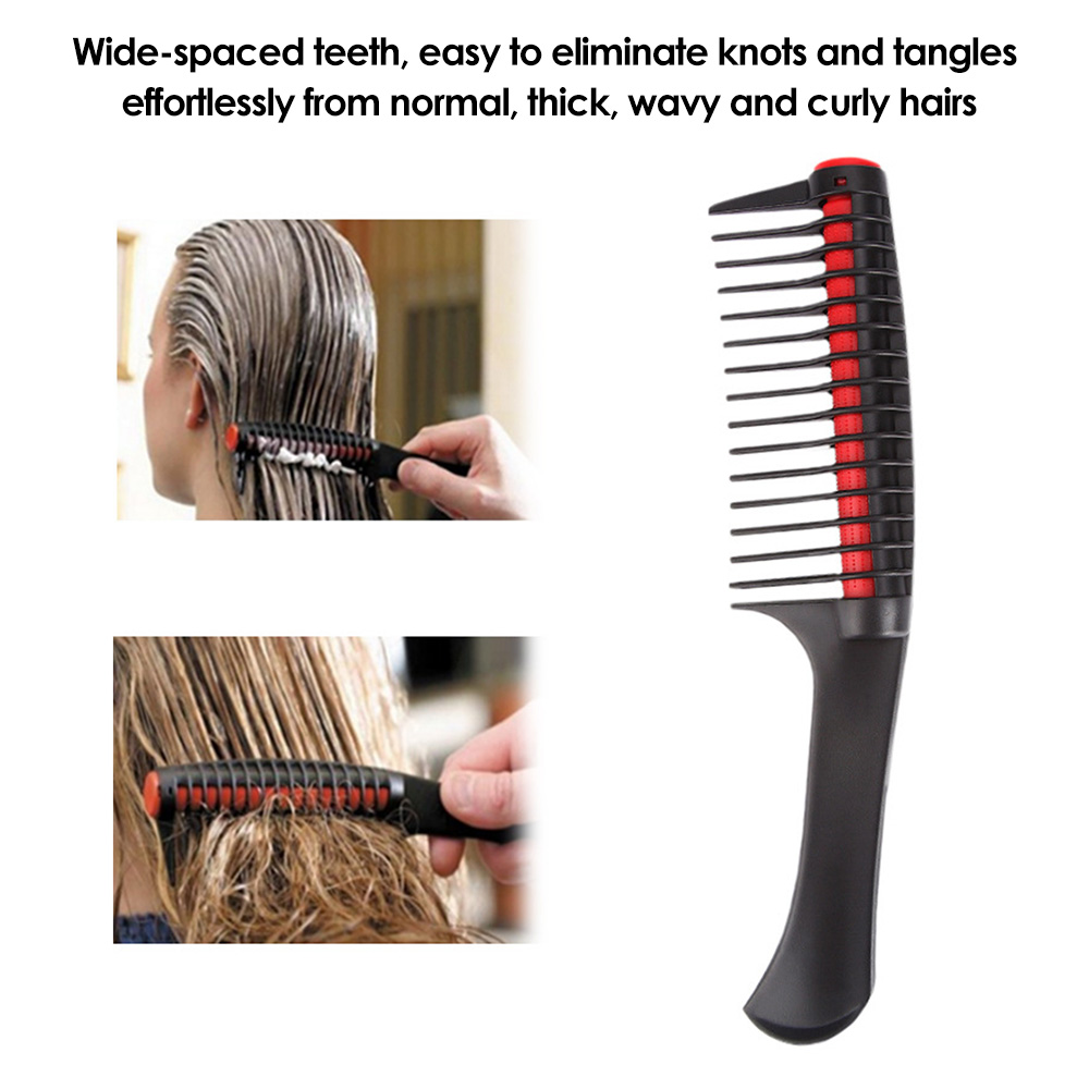 Wide Tooth Comb Detangling Hair Brush Hairdressing Salon Anti-static Plastic Hair Comb Detachable