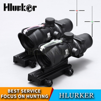 Hlurker Hunting Optics ACOG 4x32 Fiber Red Green Riflescope Collimator Rifle Dot Scope Sight For Airsoft M4 AR15