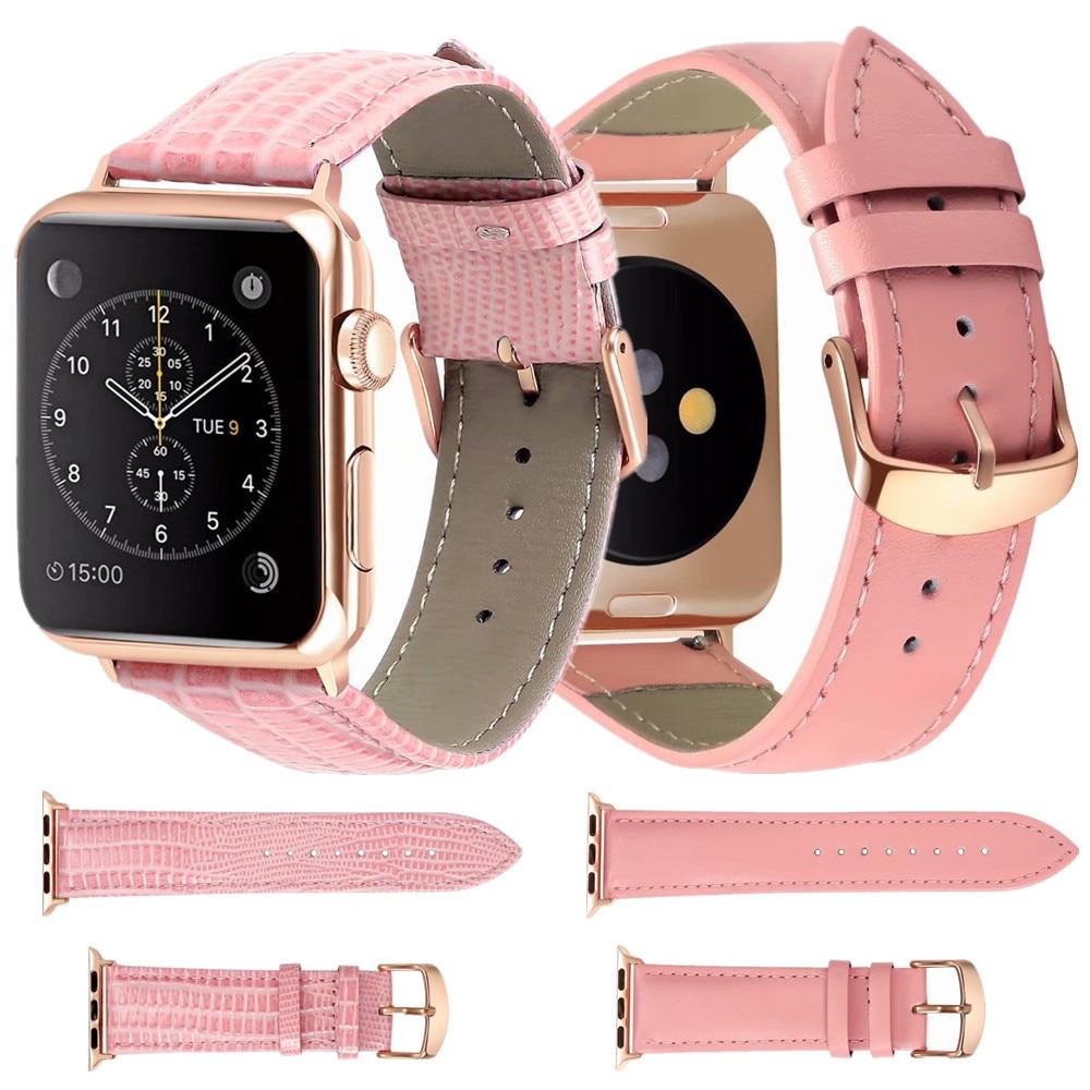 Watch Accessories Watchband For Apple Watch Bands 44mm 40mm Leather For Apple Watch Strap 42mm 38mm for iWatch 5 4 3 2 Bracelet