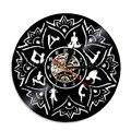 1 шт.  часы с мандалой чакрой для йоги  светодиодный светильник  декор для комнаты  Surya Namaskara  виниловая запись  настенные часы  медитация  свет...