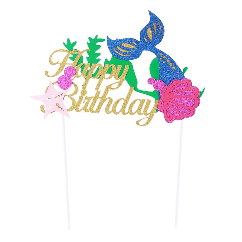 Cake Toppers Colorful Attractive Cake Picks Cupcake Decoration Dessert Topper for Birthday Party Food Dessert Decoration