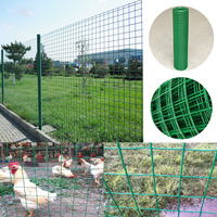 40 x 98' 1m/1.2m Steel PVC Coated Mesh Galvanized Poultry Netting 13 Gauge Chicken Wire Fence Mesh Fencing