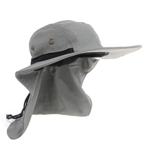 ac44f29ede7 Summer Hiking Camping Visor Hat UV Protection Face Neck Cover Fishing Sun  Protect Cap Outdoor Sport