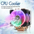 6 тепловых труб с двумя башнями кулер для процессора Intel 775/1150/1151/1155/1156/1366 все для AMD 4Pin RGB светодиодный вентилятор охлаждения тихий радиатор