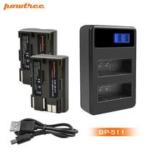Powtree 2800mAh BP-511 BP511 BP 511 BP-511A Battery+LCD Dual Charger For Canon G6 G5 G3 G2 G1 EOS 300D 50D 40D 30D 20D 5D L10 3 x 8400mah bp 970g bp 970g bp 975 batteries lcd dual quick charger kits for canon eos c100 mark ii eos c300 xf100 xf105