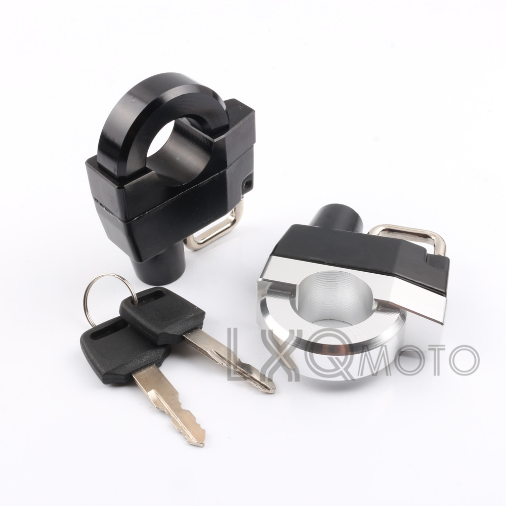 Motorcycle 25mm Handlebars Helmet Lock Key Anti-thief Security Padlock Fit For HARLEY-DAVIDSON Roadster 1200 STREET750 STREET500